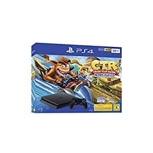 PlayStation 4 Konsole – Crash Team Racing Nitro-Fueled Bundle (Slim, 500GB, Jet Black)