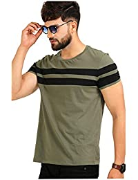 AELOMART Men's Cotton T Shirt-(Aelotshirt1020ol-P_Olive)