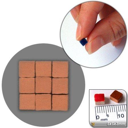 Mini Mosaïque (5x5x3mm), 1000 tesselles, Rouge brique (crue), RN01