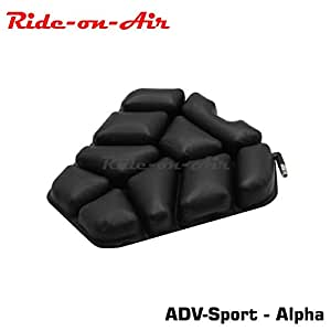 Ride-on-Air - ADV-Sport - Alpha - Motorcycle Air Seat Cushion - 1 Year Warranty & Lifetime Repair Support