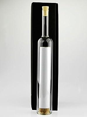 Hohlraumflasche XL, Flaschenpost, leer, edle Geschenkflasche mit Hohlraum für Geldgeschenke, zu Weihnachten, Hochzeitseinladungen