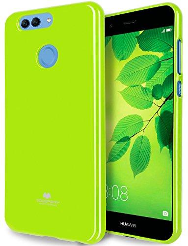Goospery Marlang Marlang Huawei Nova 2Plus Hülle, Gratis Displayschutzfolie [Slim Fit] TPU Fall [Flexibel] Pearl Jelly [Schutz] Bumper Cover für Huawei nova2plus, Lindgrün Mobile Shell 2