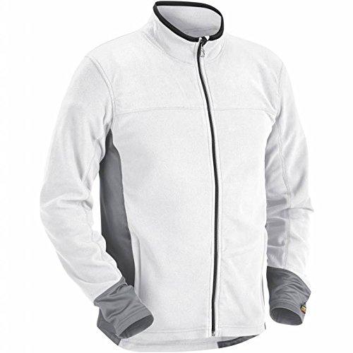 Blakläder Fleece Pullover mit Reißverschluss Maler weiß / grau