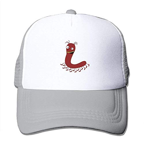 Red Cute Caterpillar Mesh Baseball Cap Unisex Adult Adjustable Golf Trucker Hat -