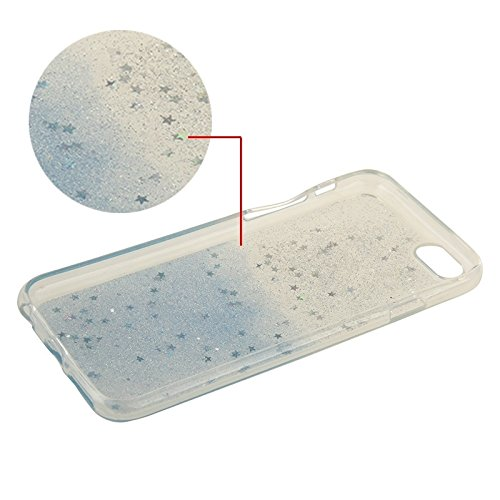 Phone case & Hülle Für IPhone 6 Plus / 6S Plus, zweifarbige Star Sequins Flash Powder Serie TPU Schutzhülle ( Color : Pink ) Blue
