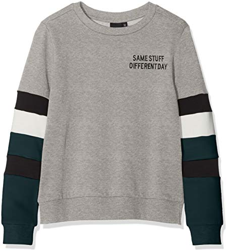 LMTD name it Jungen Sweatshirt NLMSAMSAY LS Sweat, Grau (Grey Melange), 158 (Herstellergröße: 158-164)