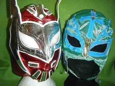 SOPHZZZZ TOY SHOP Rot Sin Cara Grün Rey Mysterio Wrestling Kostüm Verkleiden Outfit Masken für Kinder Kinder Maske Ray Mexikanisch Party Jungen Kinder Neue Serie WWF TNA Ecw Dx Super Hero