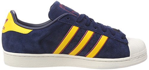adidas Herren Superstar Gymnastikschuhe Blau (Collegiate Navy/yellow Adiprene/red-sld)