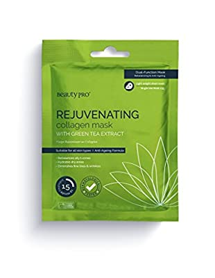 BeautyPro REJUVENATING collagen sheet mask with green tea extract from BeautyPro