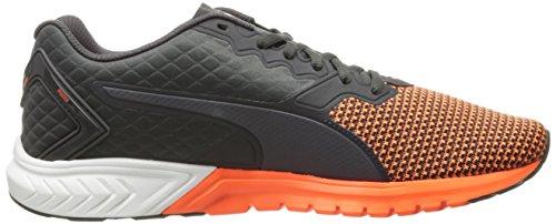 Puma Ignite Dual Nylon Synthétique Chaussure de Course Asphalt-Shocking Orange