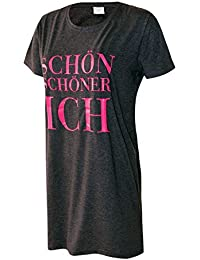Damen Nachthemd Schlafhemd kurzarm Damen Pyjama Damen Sleepshirt Damen Schlafshirt 100% Baumwolle Gr. S M L XL