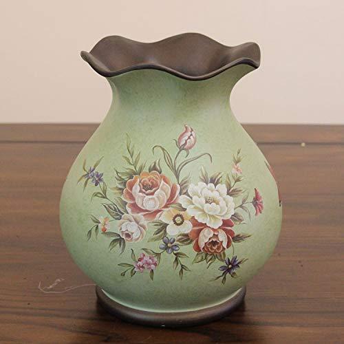 Hillhead Europäische Retro Keramik Vase American Pastoralen Land dekorative Vase Esstisch Couchtisch Dekoration Handwerk kleine Vase (Size : A)