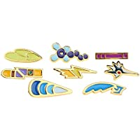 8Pcs/Box Pokemon Hall Roads Badge Brooch Pocket Monster Action Figures Metal Pin - Style D