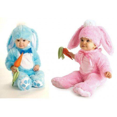 Baby Boys Girls Pink or Blue Easter Bunny Rabbit Fancy Dress Costume Outfit (6-12 months, Blue) by Fancy Me (Bunny Kostüme Für Kleinkinder)