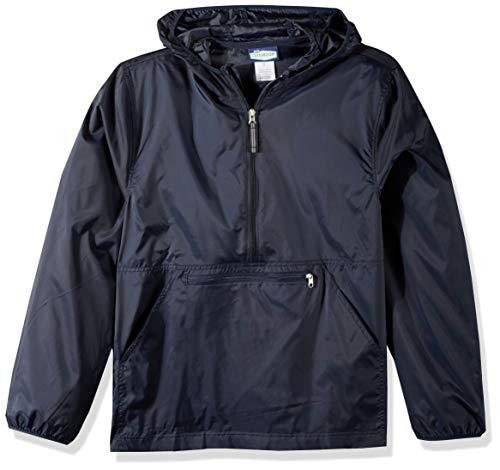 Classroom School Uniforms Erwachsene Adult Unisex Nylon Pack-Away Pullover Shell-Jacke, Navy, X-Large Nylon-shell-jacke