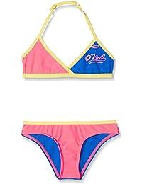 O' Neill–Cross Top Coast Beachwear Bikini, Bambina, Cross top coast bikini, Rosa shocking, 116
