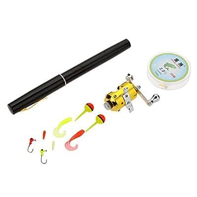 Lixada Fishing Rod Reel Combo Set,1M Portable Aluminum Pocket Fishing Rod Telescopic Pen Fishing Rod Pole,Fishing Reel,Fishing Line,Fishing Tackle Box by Lixada