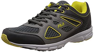 Fila Men's Super Runner Plus 3 Grey and Yellow Running Shoes -6 UK/India (40 EU)