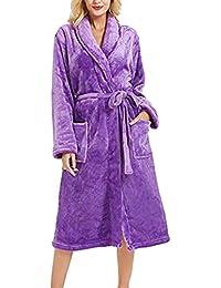 SHOBDW Albornoz Vestido De Las Mujeres Bata De Dormir Ropa De Baño Caliente Bata De Baño