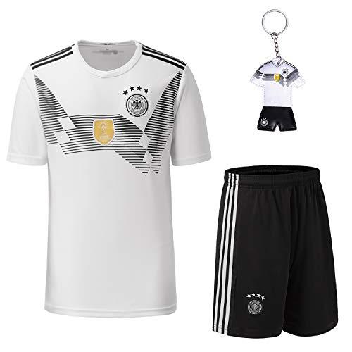 Trikots Kinder Fußball Trikot 2018 Weltmeisterschaft Germany 4 Sterne Fußball T-Shirt und Shorts Socken ()