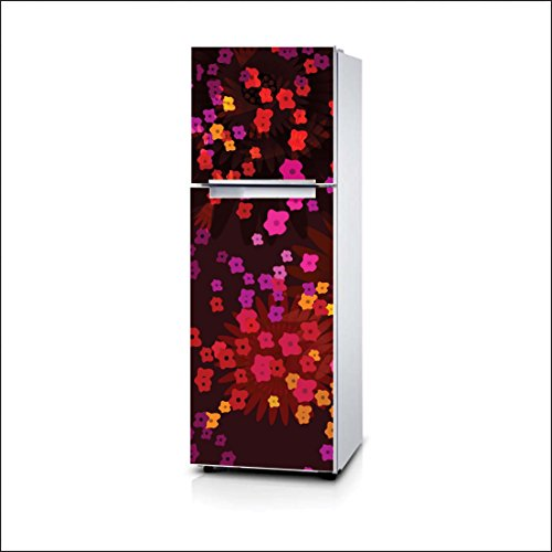 Artway India PVC Vinyl Multi Small Flower Fridge Stickers Wrap (Multicolour, 60x160cm)
