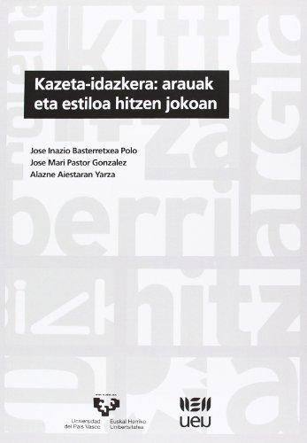 Kazeta-idazkera: arauak eta estiloa hitzen jokoan (U.E.U.) por Jose Inazio Basterretxea Polo