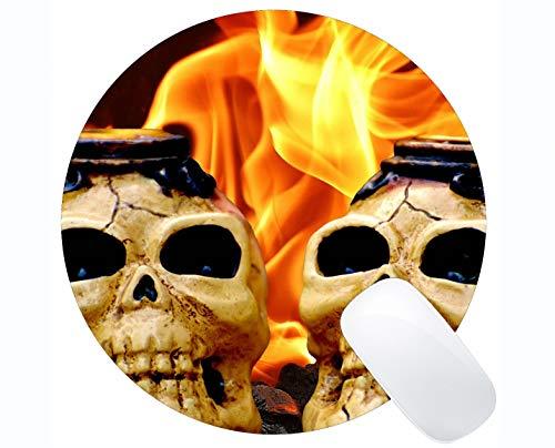 Gaming-Runde Mauspad Benutzerdefiniert, beängstigend Knochentod Horrorfilm Angst inspirierende Zitat Runde ()