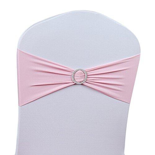 50-stretch-bande-Housse-de-chaise-de-mariage-avec-boucle-nud-coulissant-pour-rubans-Dcorations-Housses-de-chaise-Chaise-Dcoration-rose-Rose-