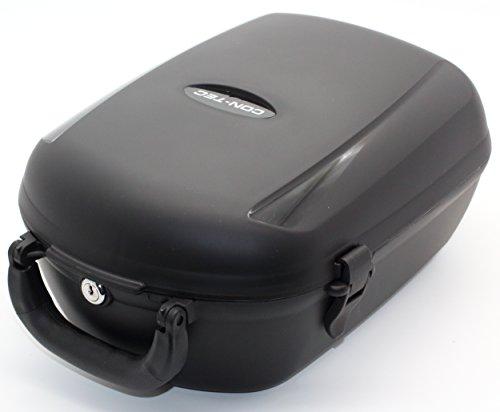 CONTEC Gepäckträgerbox Cargo Plus abnehmbar, schwarz, Maße: B25,5cm x L36,5cm x H17,5cm, Volumen: 13ltr.