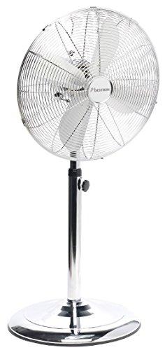 Bestron Standventilator mit Schwenkfunktion im Retro-Design, Höhe: 127 cm, Ø 45 cm, 50 W, Chrom
