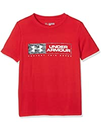 Under Armour garçon Knockout Bar mot-symbole T à manches courtes pour homme, Enfant, Knockout Bar Wordmark T