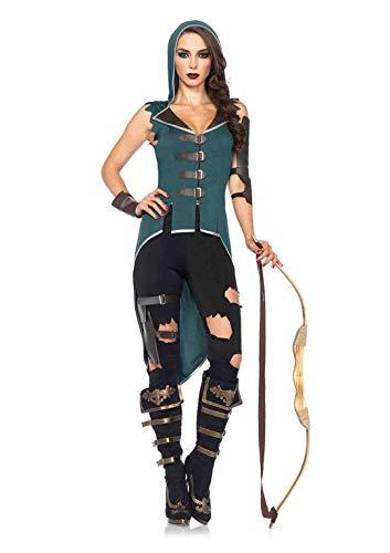 Kostüm Märchen Rebel - Leg Avenue 85468 - Rebel Robin Hood-Kostüm, Größe XS  (EUR 32-34)