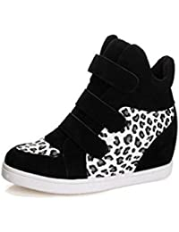 Botas Mujer, Transer® 2017 Zapatos de mujer Otoño Invierno Moda tacon de cuña oculta de rebaño de zapatos casuales