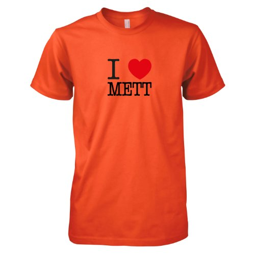 TEXLAB - I love Mett - Herren T-Shirt Orange