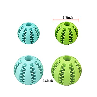 Bojafa Puppy Small Medium Dog Toys Balls (2 Pack) Rubber Durable Tough Dog IQ Toys for Pet Tooth Cleaning/Chewing/Playing/Treat Dispensing from Bojafa