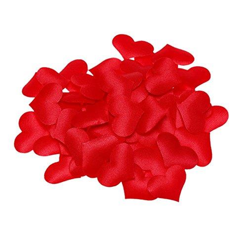 100pcs proposta letto matrimonio con petali di rosa artificiali finto fiore diy confetti per decorazioni, rosso 100.00 * 70.00 * 10.00 red