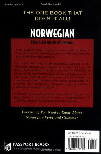 Norwegian Verbs And Essentials of Grammar (Verbs and Essentials of Grammar Series)