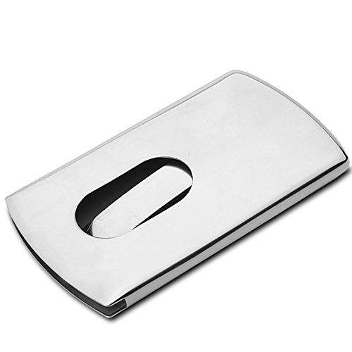 Gebürstete rostfreie Stee-Namenskarten-Kasten, können Männer und Frauen Geschäft verdickten Karten-Halter benutzen