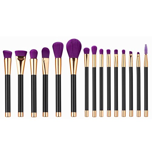 kingko® 15pcs / set Mini Fondation pinceau de maquillage Sourcils Eyeliner Blush cosmétiques Concealer Brushes