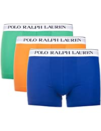 Ralph Lauren Pack Of Three Boxers Underwear For Men Polo Classic Trunk 3 Pack Navy/English Green/B PO