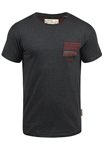 INDICODE Paxton T-Shirt, Größe:L;Farbe:Charcoal Mix (915)