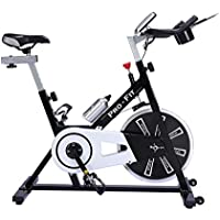 UK Fitness Indoor Exercise Bike Indoor Cycling Cardio Work Out Cycle 13kg Fly Wheel With i Pad Holder