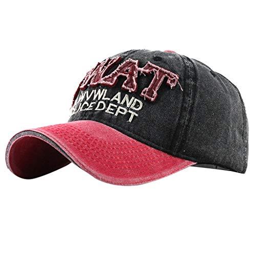 Syeytx Womens Mans Cotton Hat Waschlappen Waschlappen Baseballmütze Buchstabenstickerei Hochwertige bestickte Unisex-Baseballmützen einstellbar