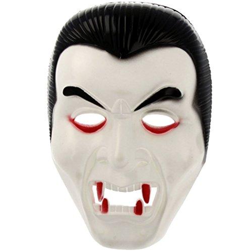 Dracula Halloween Maske für Erwachsene, auch zum bemalen (Halloween Kostüm Metall Kopf)