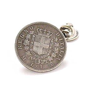 Italien Münze Krawatte Stift Anstecknadel Italien Italien Rom Venedig Roma Spilla Gioielli Neapel Sizilien Mailand Vintage Antik