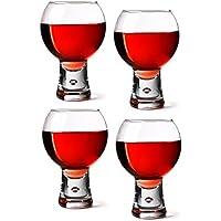 Durobor alternato confezione di 4calici da vino rosso, short Stem