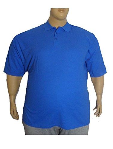 Herren Polo Shirt T-Shirt Übergröße Übergrössen TShirt 8XL 9XL 10XL *N123-6 Royalblau