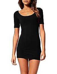 Mini abito donna vestito corto aderente vestitino miniabito pizzo estivo  (314) 7a5f57fade6