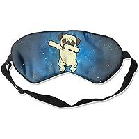 Funny Dabbing Pug Cute Dabbing Dog Natural Silk Sleep Mask & Blindfold Super-smooth Eye Mask preisvergleich bei billige-tabletten.eu