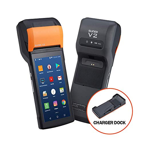 Handheld Android POS Terminal Android 7.0 Bondrucker Quittungdrucker 5.45 mit 4G WIFI Bluetooth MUNBYN SUNMI V2 Eingebauter Thermodrucker PDA IPDA049